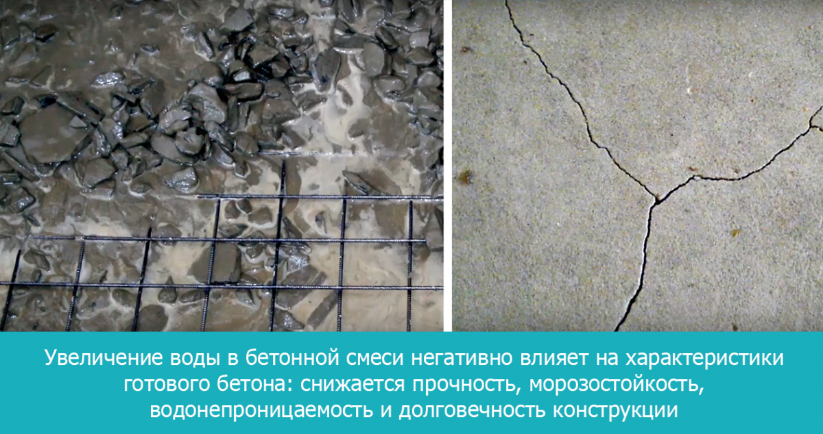 жидкая бетонная смесь