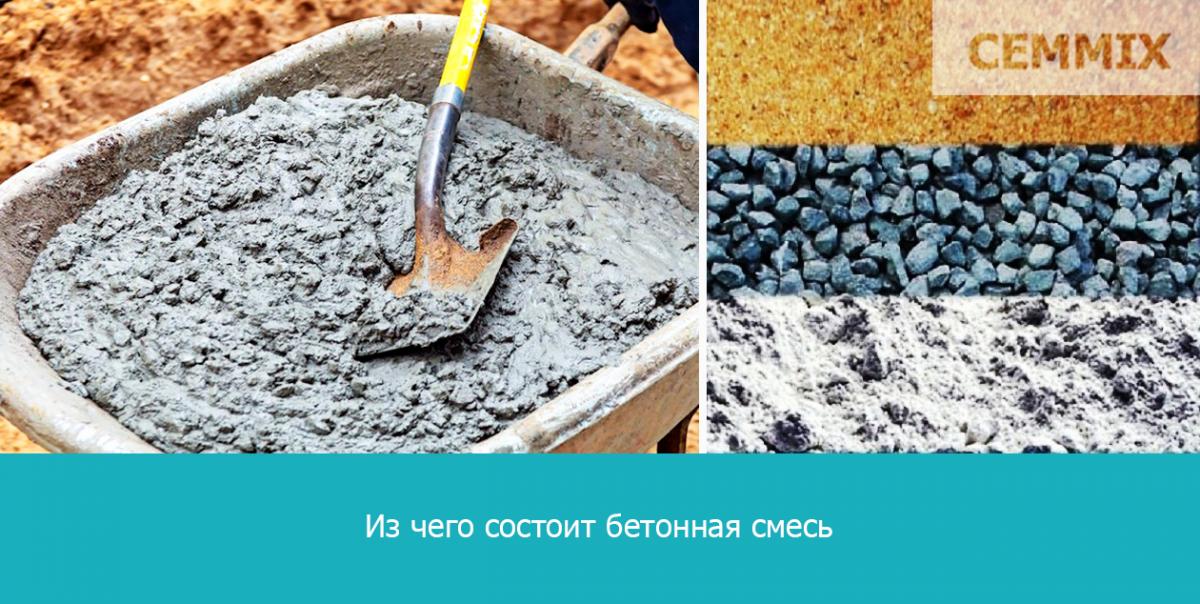 Из чего состоит бетонная смесь