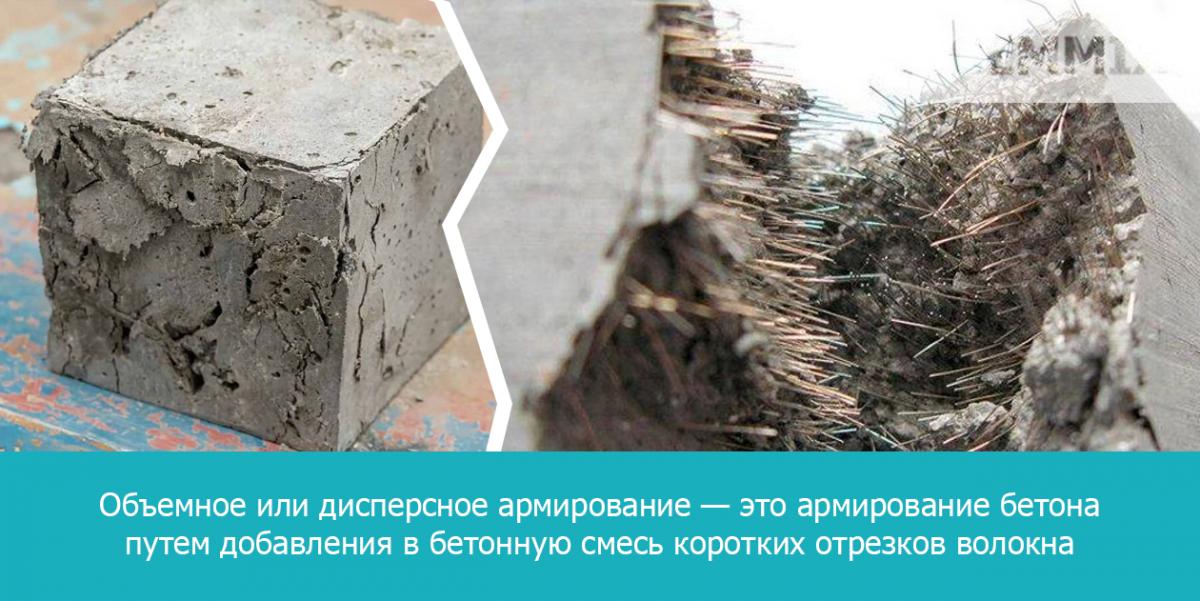 Армированный фиброй бетон называют фибробетоном
