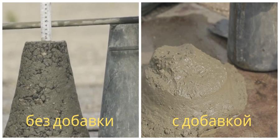 Использование добавки CemPlast в частности на 10-25% повышает раннюю и на 10-20% марочную прочность бетона, снижает водопотребность до 10-20% и увеличивает долговечность готового изделия в два-три раза.