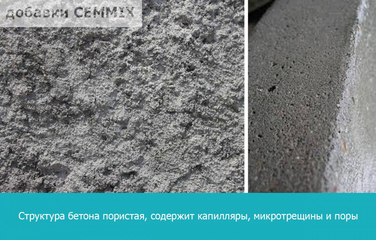выщелоченный бетон